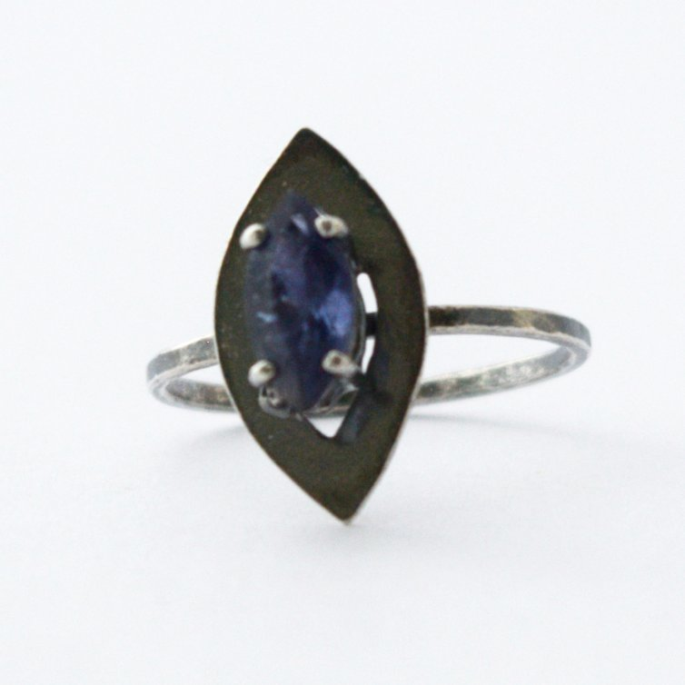 Iolite Marquise Ring