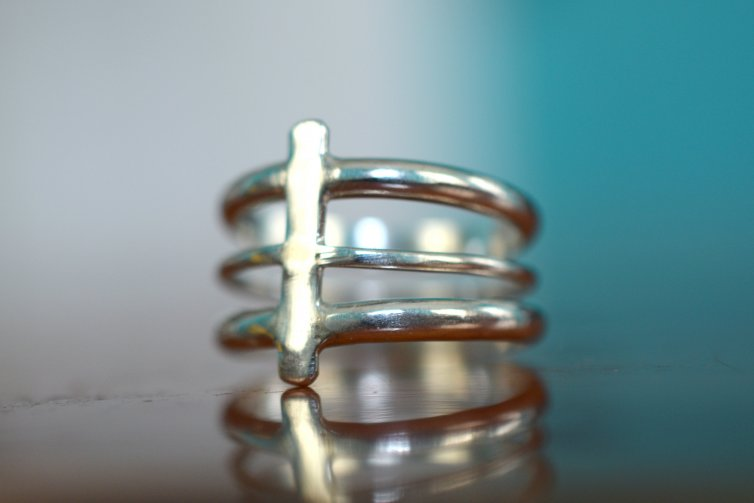 Back Bone Silver Ring