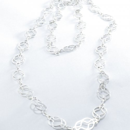 Silver necklace Knot chain 1